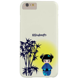 Japanese kokeshi doll at bamboo during sunrise barely there iPhone 6 plus case