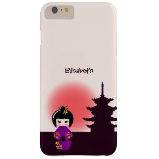 Japanese kokeshi doll at temple during sunset barely there iPhone 6 plus case