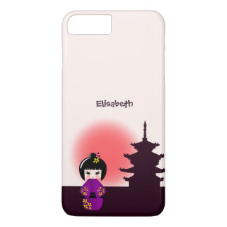 Japanese kokeshi doll at temple during sunset iPhone 8 plus/7 plus case
