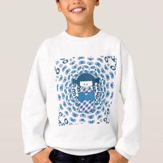 Japanese Kokeshi doll, blue Sweatshirt
