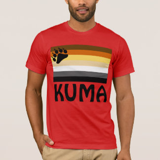 Japanese (Kuma) Gay Bear Pride Flag T-Shirt