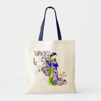 Japanese Lady 001 Budget Tote Tote Bags