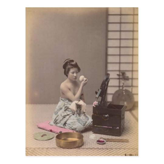 Japanese Lady Geisha Asian Vintage Art Postcard