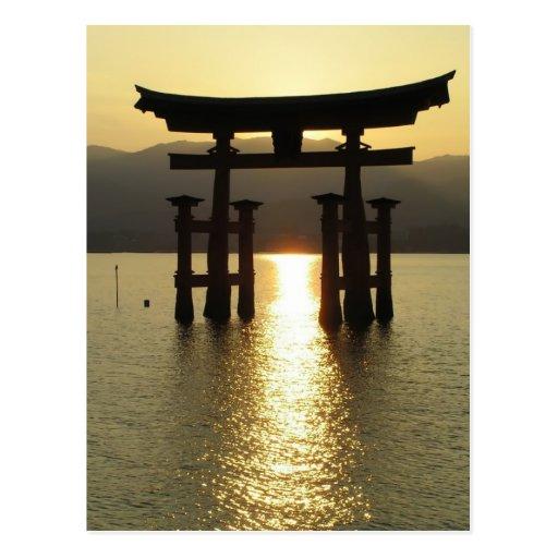 Japanese Lake Solitude Post Card