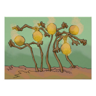japanese-lantern-slime fungus poster