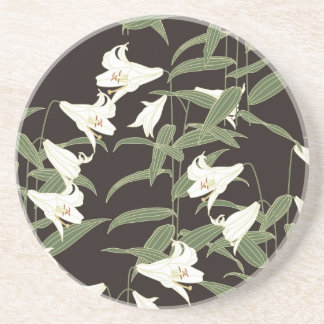 Japanese Lily Drink Coaster