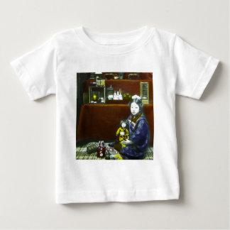 Japanese Little Girl Vintage Magic Lantern Slide Tee Shirts