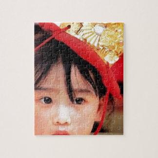 Japanese Little Girl Wearing a Kimono Jigsaw Puzzle