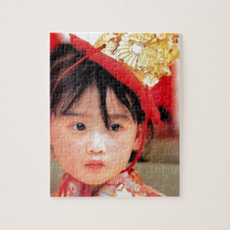 Japanese Little Girl Wearing a Kimono Puzzles