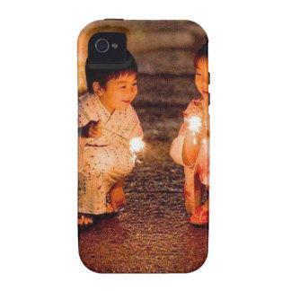 Japanese Little Girls Wearing Kimono Vibe iPhone 4 Cover