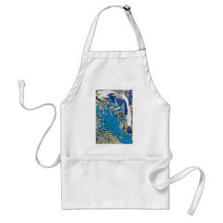 Japanese Lobster and Bird Painting c. 1800's Apron
