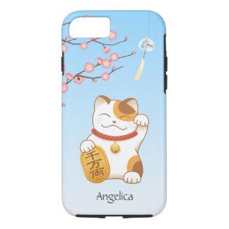 Japanese Lucky Cat, Calico Maneki Neko iPhone 7 Case