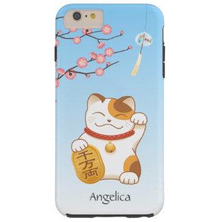Japanese Lucky Cat, Calico Maneki Neko Tough iPhone 6 Plus Case