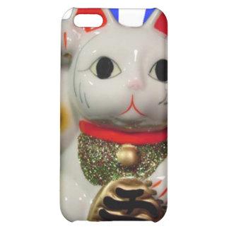 Japanese Lucky Cat MANEKI NEKO blue iPhone iPhone 5C Covers