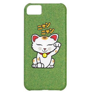 Japanese Lucky Cat Maneki Neko on Grass iPhone 5C Case