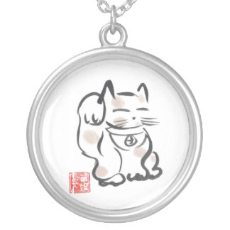 Japanese Lucky Cat Necklace