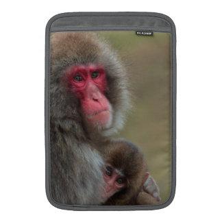 Japanese Macaque Monkeys MacBook Air Sleeve