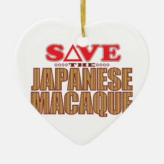 Japanese Macaque Save Christmas Ornament