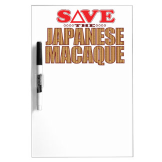 Japanese Macaque Save Dry Erase Board