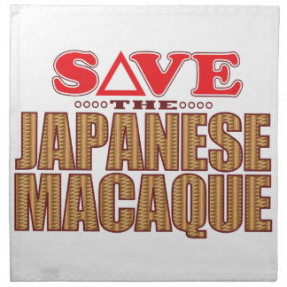 Japanese Macaque Save Napkin