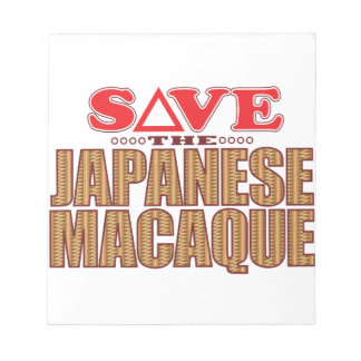 Japanese Macaque Save Notepad
