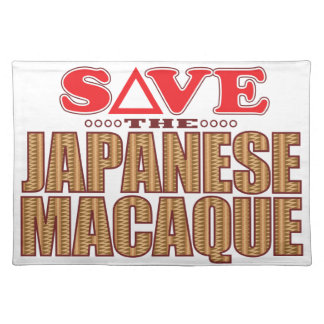 Japanese Macaque Save Placemat