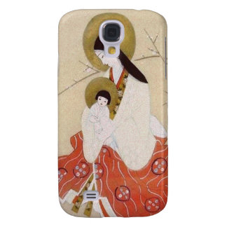 Japanese Madonna and Child Vintage Galaxy S4 Case