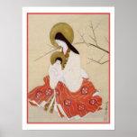 Japanese Madonna and Child Vintage Poster