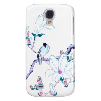 Japanese Magnolia and Bird Print Samsung Galaxy S4 Cover