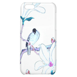 Japanese Magnolia and Bird Print Cover For iPhone 5C