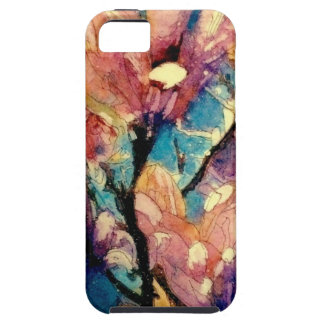 Japanese Magnolia watercolor batik iPhone 5 Cases