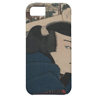 Japanese man - woodblock print iPhone 5 cover