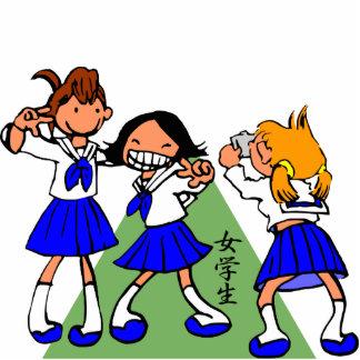 Japanese MANGA high-school girls Cut Outs