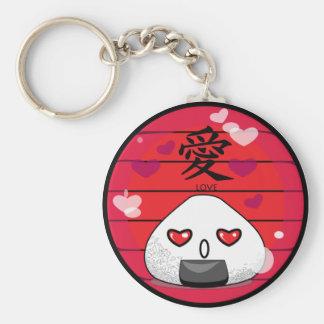 Japanese Manga Mascot Basic Round Button Key Ring