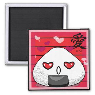 Japanese Manga Mascot Square Magnet