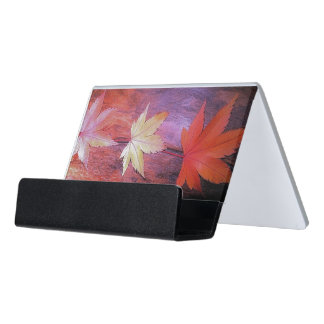 Japanese Maple Desk Business Card Holder