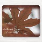 Japanese Maple Leaf Wedding Mouse Mat