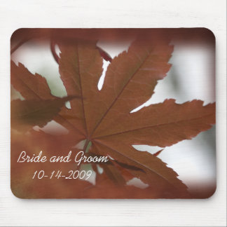 Japanese Maple Leaf Wedding Mouse Mat
