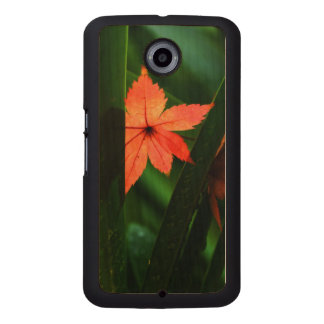 Japanese Maple Leaf Wood Phone Case