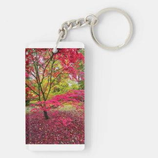 Japanese Maple tree at Westonbirt Arboretum Double-Sided Rectangular Acrylic Key Ring