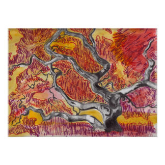 Japanese Maple Tree Drawing Poster