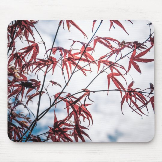 Japanese Maple Tree Leaves Mouse Mat