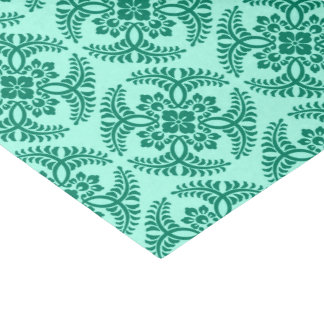 Japanese Medallion Pattern, Aqua and Turquoise Tissue Paper