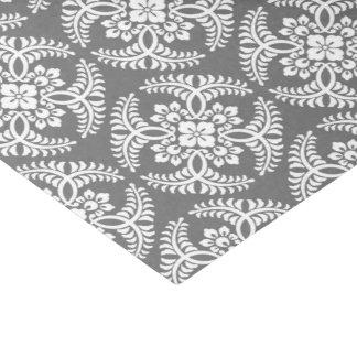 Japanese Medallion Pattern, Gray / Grey & White Tissue Paper