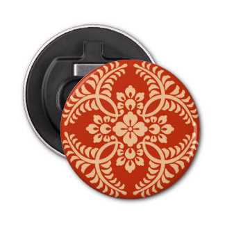 Japanese Medallion Pattern, Mandarin Orange Bottle Opener