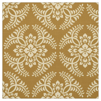 Japanese Medallion Pattern, Mustard Yellow Fabric