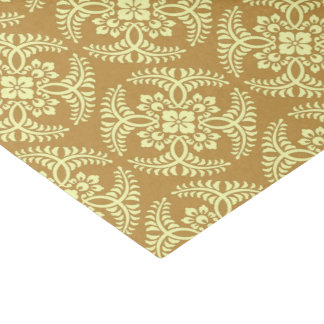 Japanese Medallion Pattern, Mustard Yellow Tissue Paper