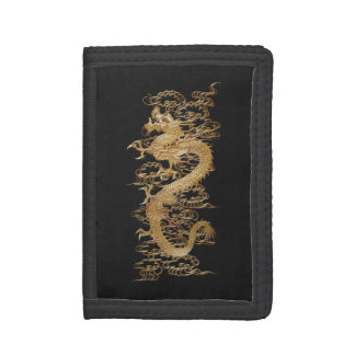 Japanese Meiji Gold Dragon Tri-fold Wallet