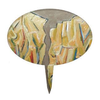 Japanese Metallic Cliffs (cubism rock pattern) Cake Pick