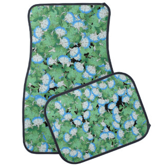 Japanese Morning Glory Floral Flowers Floor Mats Car Mat